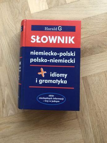 Słownik niemiecko-polski i polsko-niemiecki + idiomy