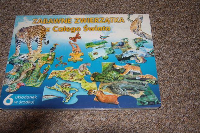 Puzzle edukacyjne ze zwierzętami dla młodszych dzieci