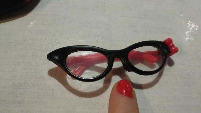 игрушка кукле очки крсные с черным пластик