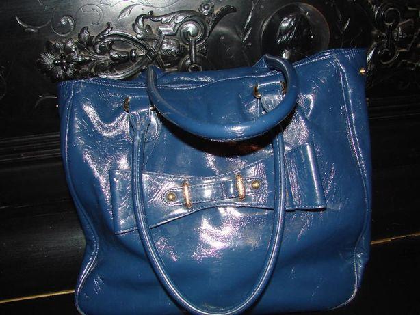 Продам модную сумку темно- синюю, лаковую.