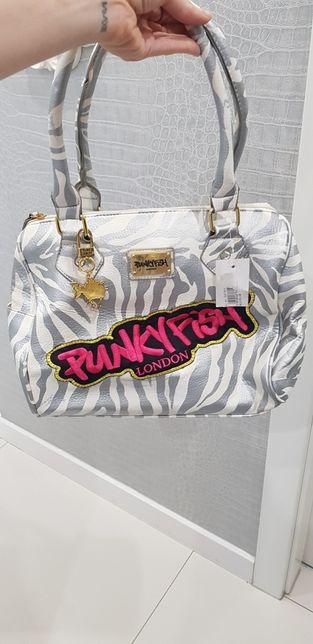 Nowa torba punkyfish london panterka zlota srebrna prezent święta