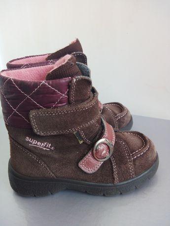 Зимние ботинки Superfit 25 р., термоботинки 16 см, сапоги детские