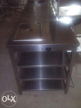 Bancada inox c/ cuba aquecida 750x700x900 mm