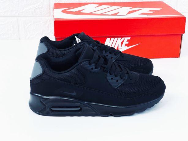 Черные кроссовки найк аир макс 90 nike air max кросівки жіночі чоловіч