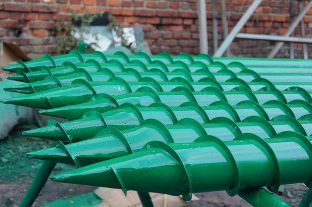 Изготовление винтовых свай (гвинтові палі) монтаж свайного поля.