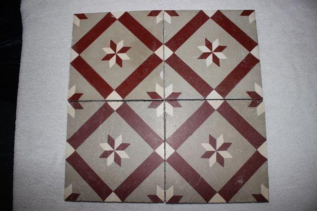 Quadras -Mosaico Hidráulico Pavimento antigo Artesanal -Vários padrões