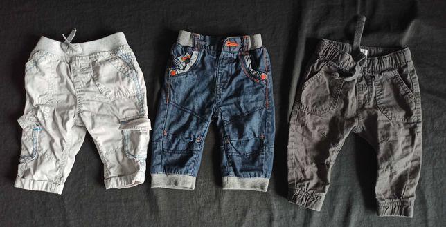 Ocieplane spodnie dla chłopca r. 68 (3-6 miesiąc)