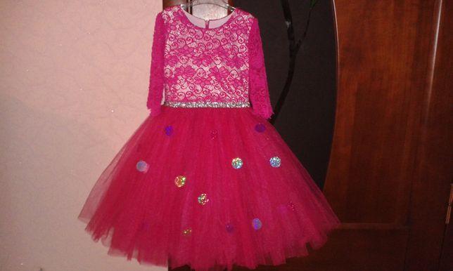 Продам новогоднее, пышное, очаровательное платье бусинки!