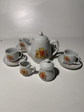 Conjunto de chá em porcelana