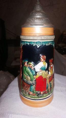 Kufel dekoracyjny recznie malowany