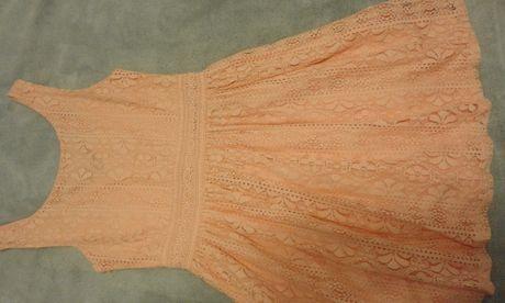 sukienka dziewczęca cubus rozmiar 146 morelowa koronka
