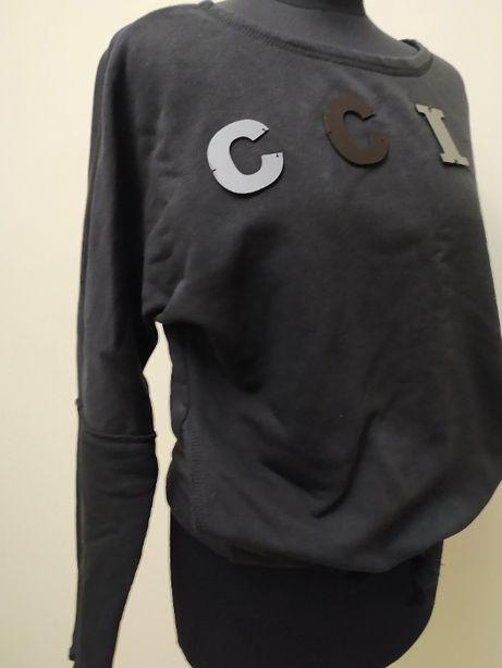 тильный хлопковый свитшот с модным принтом в стиле «оверсайз». Италия