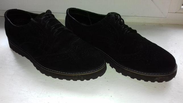 Туфли броги замша (туфлі)