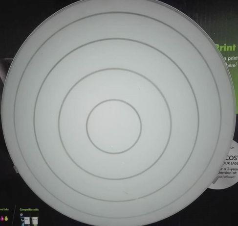 candeeiro de teto circular grande branco