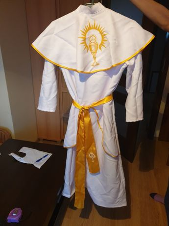 Alba szatka do I Komunii Świętej kolor żółty