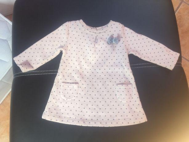 vestido rosa com laço / marca: Zippy / tamanho: 3-6 meses