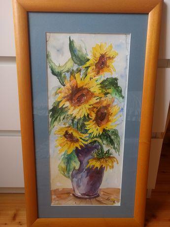 Obraz akwarela słoneczniki