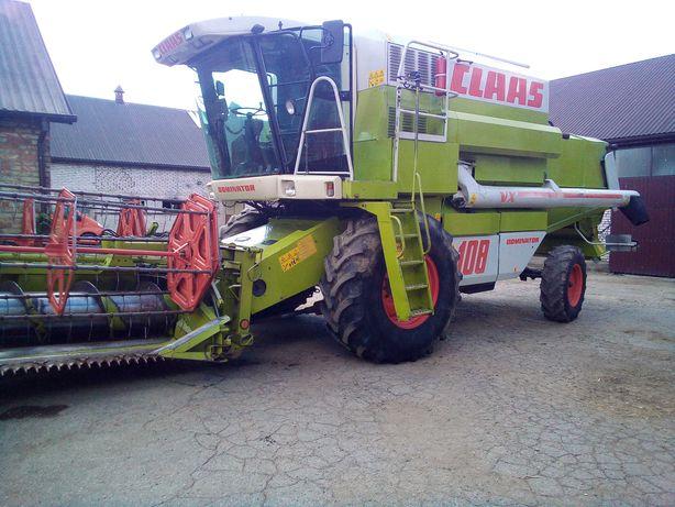 Kombajn CLAAS Dominator VX108 gotowy do koszenia kukurydzy