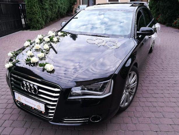 Auto do ślubu, auto ślubne na wesele, samochód weselny, Audi A8