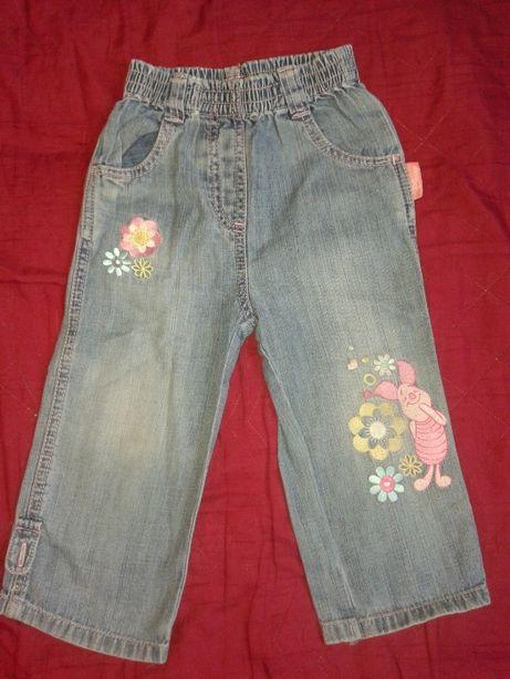 Spodnie jeansy dla dziewczynki 80 Disney Prosiaczek