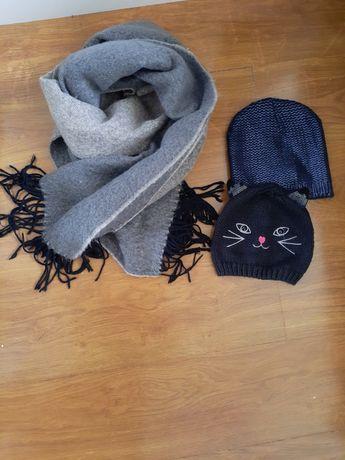 Zestaw szal i 2 czapki mohito