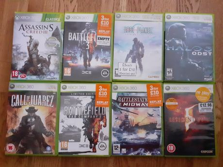 Gry na xbox 360 assassins, resident evil,  halo, call of juarez