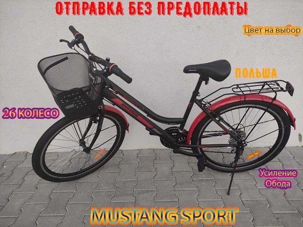 """Велосипед Горный с женской рамой Mustang Sport 26"""" GD  - Черно-Красный"""