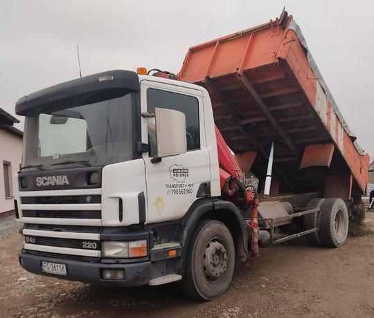 Transport materiałów wywrotka przewóz materiałów żwir beton ziemia