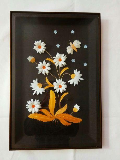 Картина под стеклом ромашки ссср