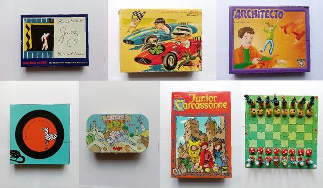 Jogos e Brinquedos - Cartas, Xadrez Smurfs, Carcassonne e outros
