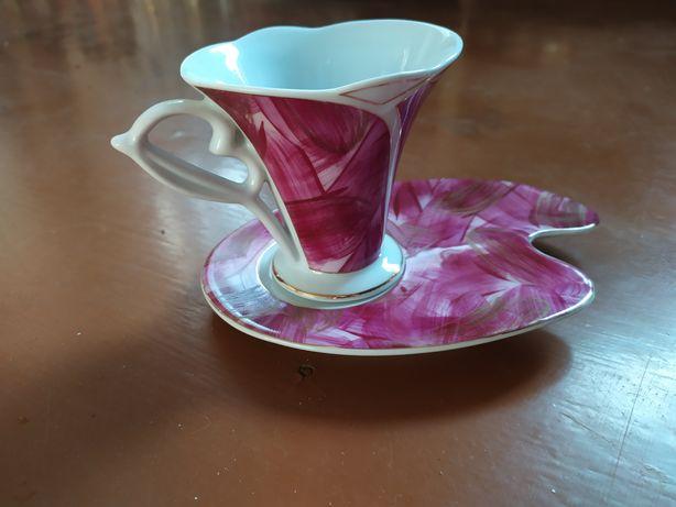Набор кофейный чашка и блюдце новые
