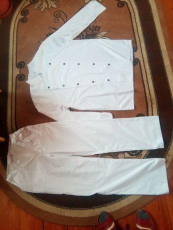 bluza i spodnie kucharskie