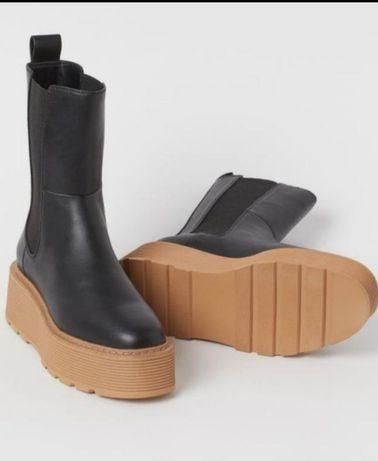 Челсы H&M, черевики, ботинки женские
