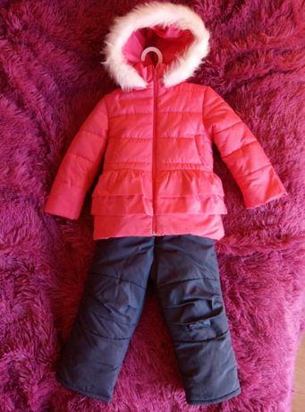 Новый зимний комбинезон/костюм на овчине на девочку