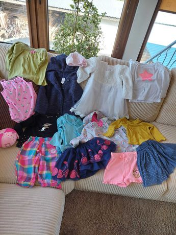 Ubranka dla dziewczynki rozmiar 86