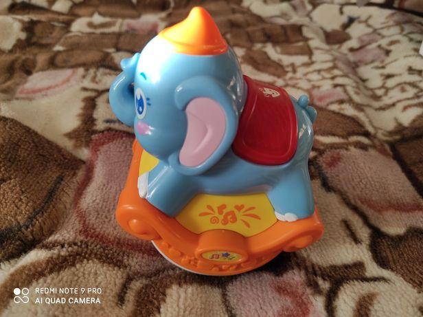 Музыкальный слоник. Музыкальная игрушка