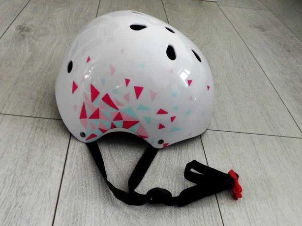 Kask Rower Deskorolka Dziecięcy Rozmiar S-M (52-56) LED Wentylacja B