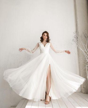 Блестящее свадебное платье новое, весiльна сукня