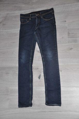 H&M jeansy SLIM FIT granatowe r. 152 cm