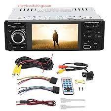 "Auto-Rádio Touch USB áudio vídeo LCD 4"" 1din Bluetooth AUX mirror link"