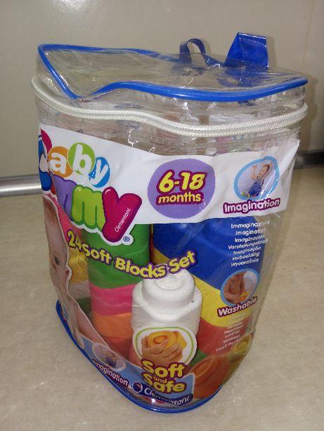 Clemmy baby - woreczek z gumowymi klockami!
