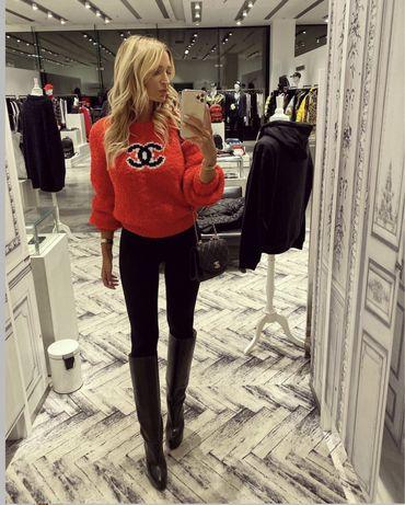 Chanel sweterek PREMIUM logowany HIT JESIENI 2021