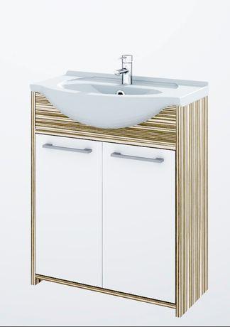 Nowa Szafka 75 Bahama Zebrano, komplet nowa szafka z umywalką.
