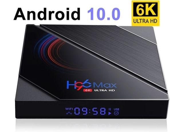Nowość !Tv Box H96 Max 6K Android 10 4/32/64 GB Kodi, Netflix, Spotify