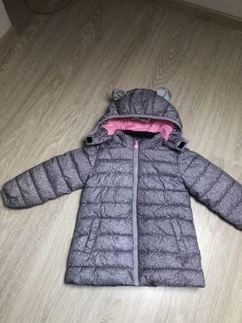 H&M piękna zimowa kurtka sportowa uszka odblaski