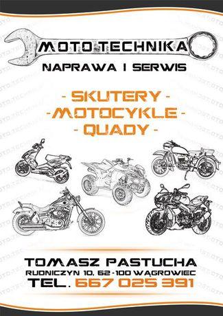 Naprawa renowacja motocykli, szkiełkowanie centrowanie kół cdi