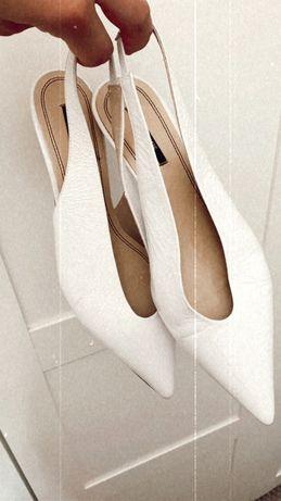Sprzedam buty białe zara skóra na ślub wesele r 39