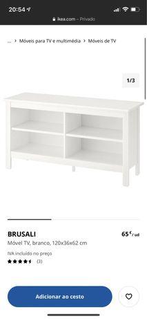 Movel TV Ikea Brusali Castanho