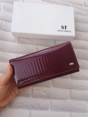 Кожаный женский кошелек из натуральной кожи жіночий шкіряний гаманець