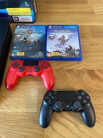 Sony PlayStation 4 Pro 1Tb + 1 DualShock, 2 игры